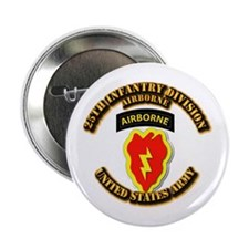 """Army - 25th ID - Airborne 2.25"""" Button"""
