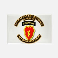Army - 25th ID - Airborne Rectangle Magnet (10 pac