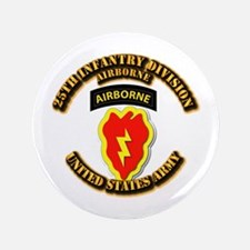 "Army - 25th ID - Airborne 3.5"" Button"