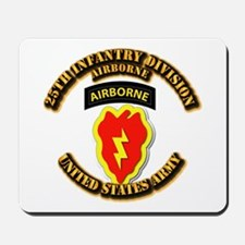 Army - 25th ID - Airborne Mousepad