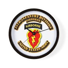 Army - 25th ID - Airborne Wall Clock