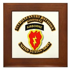 Army - 25th ID - Airborne Framed Tile