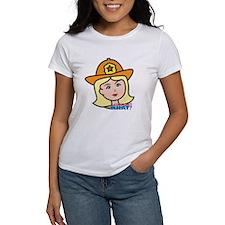 Firefighter Woman Head Light/Blonde Tee