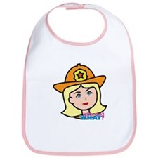Firefighter Woman Head Light/Blonde Bib