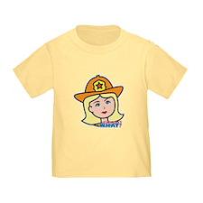 Firefighter Woman Head Light/Blonde T
