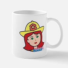 Firefighter Woman Head Light/Red Mug