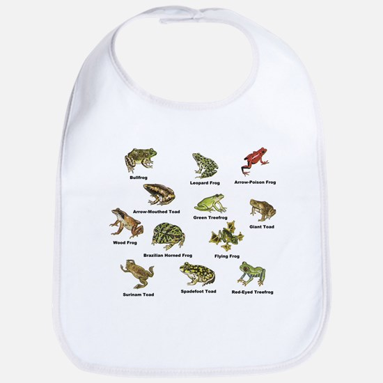 Frog and Toad Types Bib