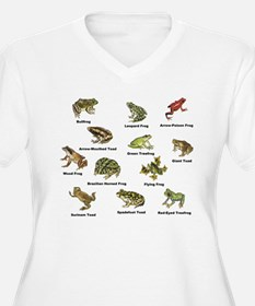 Frog and Toad Types Plus Size T-Shirt
