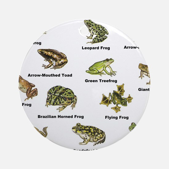 Frog and Toad Types Ornament (Round)