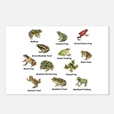 Frog and Toad Types Postcards (Package of 8)