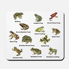 Frog and Toad Types Mousepad