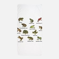 Frog and Toad Types Beach Towel