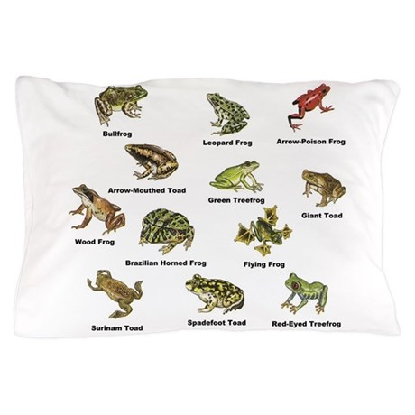 Frog and Toad Types Pillow Case by 1stopshoppingts