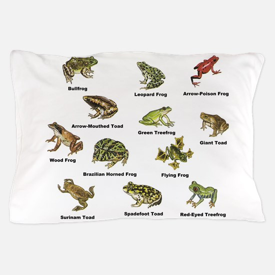 Frog and Toad Types Pillow Case