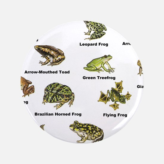 """Frog and Toad Types 3.5"""" Button"""