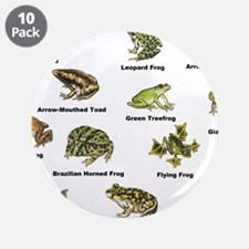 """Frog and Toad Types 3.5"""" Button (10 pack)"""