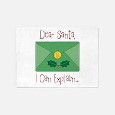 Dear Santa, I Can Explain... 5'x7'Area Rug