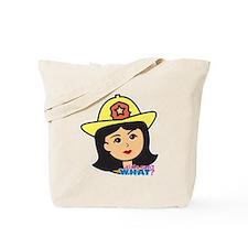 Firefighter Woman Head Medium Tote Bag