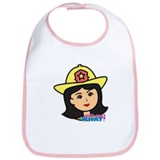 Firefighter Woman Head Medium Bib