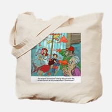 Carpnado Scary Goldfish Film Tote Bag