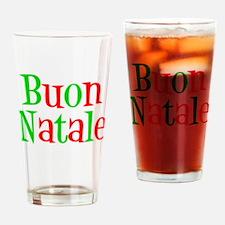Italian Buon Natale Drinking Glass