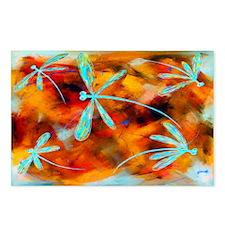 Dragonfly Desert Flit Postcards (Package Of 8)