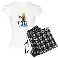 Construction Worker Woman Light/Blonde Pajamas