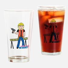 Construction Worker Woman Light/Blonde Drinking Gl
