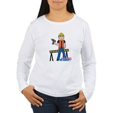 Construction Worker Woman Light/Blonde T-Shirt
