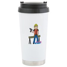 Construction Worker Woman Light/Blonde Travel Mug