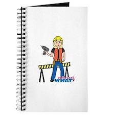 Construction Worker Woman Light/Blonde Journal