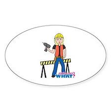 Construction Worker Woman Light/Blonde Decal