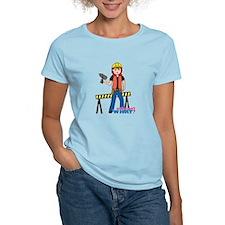 Construction Worker Woman Light/Red T-Shirt