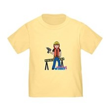 Construction Worker Woman Light/Red T