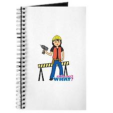 Construction Worker Woman Medium Journal