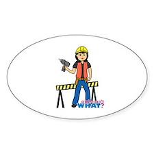 Construction Worker Woman Medium Decal