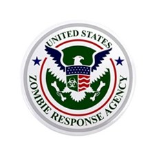 """US Zombie Response Agency 3.5"""" Button"""