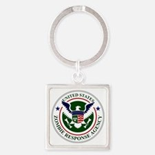 US Zombie Response Agency Square Keychain