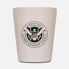 US Zombie Response Agency Shot Glass