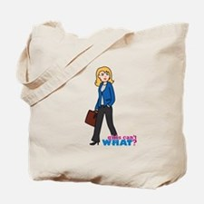 Business Woman Light/Blonde Tote Bag