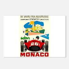Vintage 1957 Monaco Grand Prix Race Poster Postcar