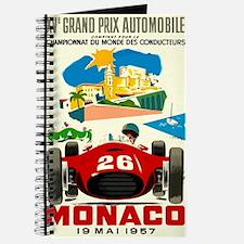 Vintage 1957 Monaco Grand Prix Race Poster Journal