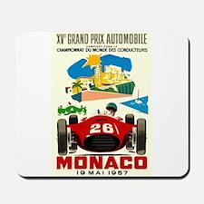 Vintage 1957 Monaco Grand Prix Race Poster Mousepa