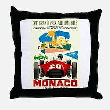 Vintage 1957 Monaco Grand Prix Race Poster Throw P