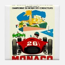 Vintage 1957 Monaco Grand Prix Race Poster Tile Co