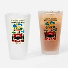 Vintage 1957 Monaco Grand Prix Race Poster Drinkin