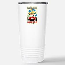 Vintage 1957 Monaco Grand Prix Race Poster Travel