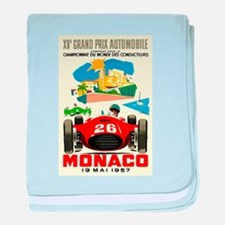 Vintage 1957 Monaco Grand Prix Race Poster baby bl