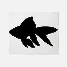Goldfish Silhouette Throw Blanket