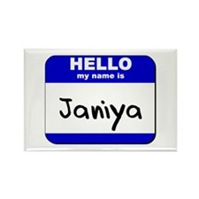 hello my name is janiya Rectangle Magnet